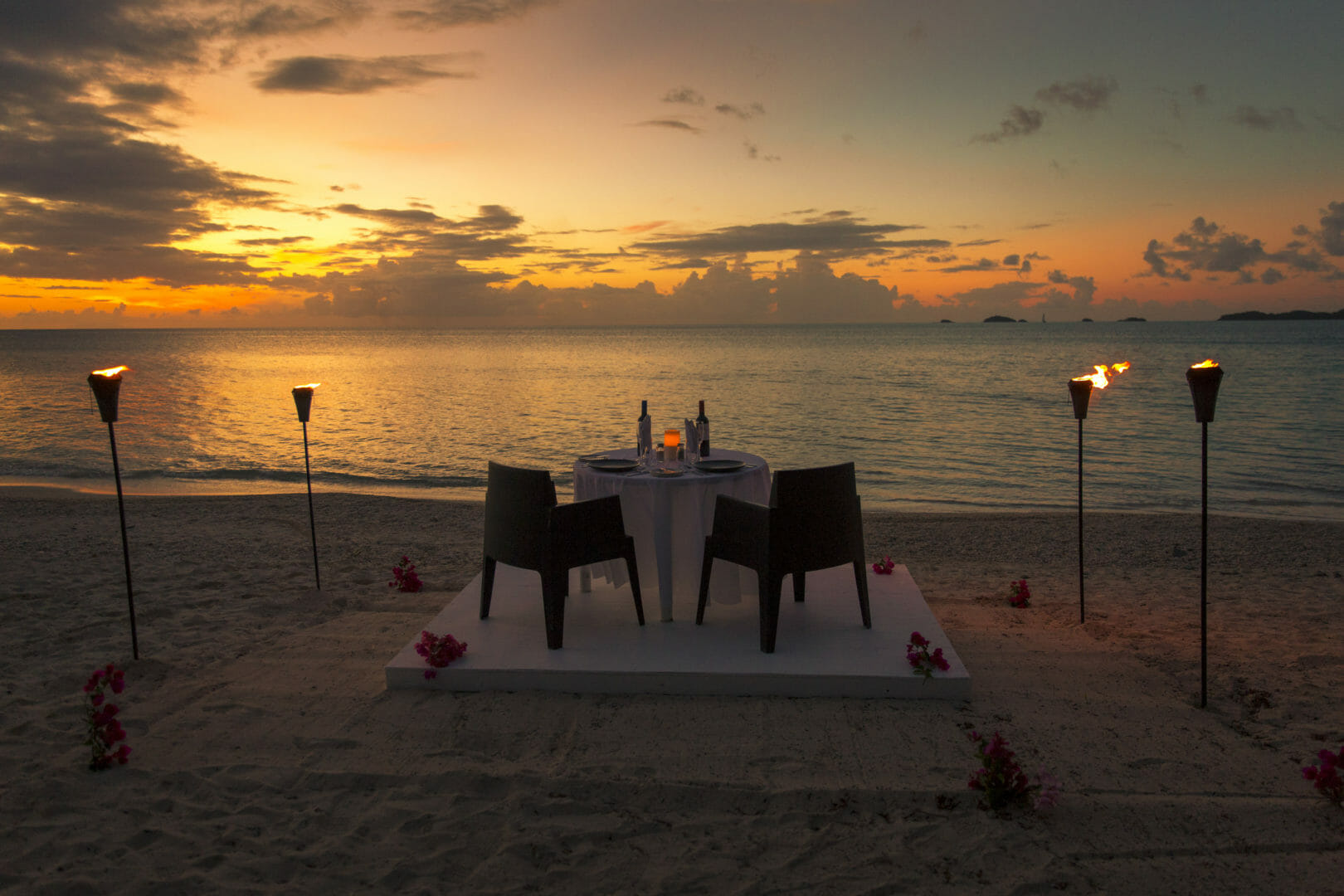 Private Dining Options Cocobay Resort Antigua Beach